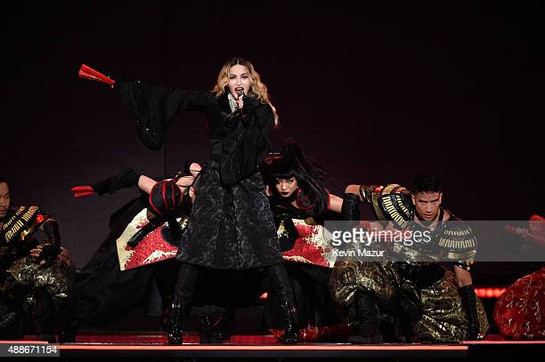 Madonna performs onstage during her 'Rebel Heart' tour at Madison Square Garden on September 16 2015 in New York City