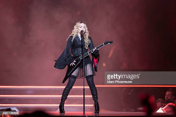 Madonna performs onstage during her 'Rebel Heart' Tour at the Lanxess Arena on November 4, 2015 in Cologne, Germany.