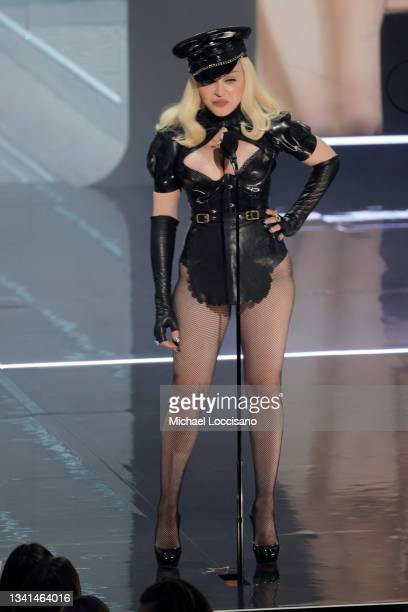Madonna performs onstage during the 2021 MTV Video Music Awards at Barclays Center on September 12, 2021 in the Brooklyn borough of New York City