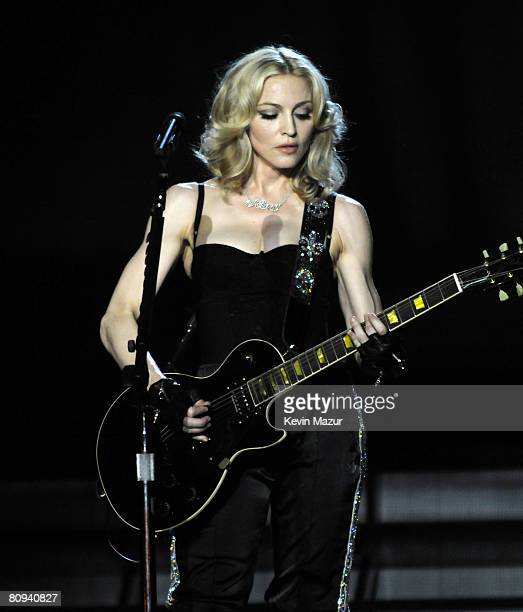 NEW YORK APRIL 30 *EXCLUSIVE* Madonna performs thank you show for fans in celebration of the release of 'Hard Candy' at Roseland Ballroom on April 30...