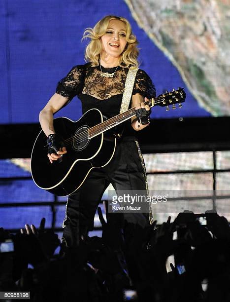 Madonna performs thank you show for fans in celebration of the release of Hard Candy at Roseland Ballroom on April 30 2008 in New York City