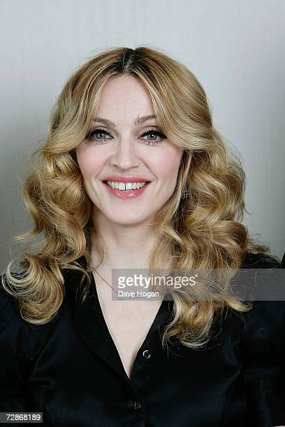 Madonna poses for a portrait after recieving the Bizzare Award For Best Female at London Television Studios on December 13 2006 in London England