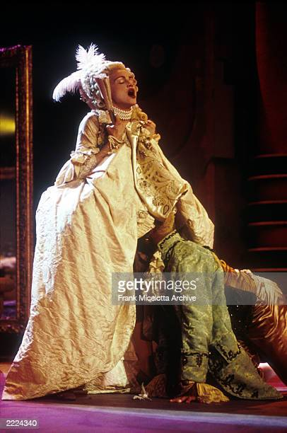Madonna preforming her song 'Vogue' on the MTV Video Music Awards in September 1990 Photo by Frank Micelotta/ImageDirect