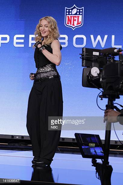 XLVI Madonna Press Conference Pictured Madonna Photo by Paul Drinkwater/NBC/NBCU Photo Bank