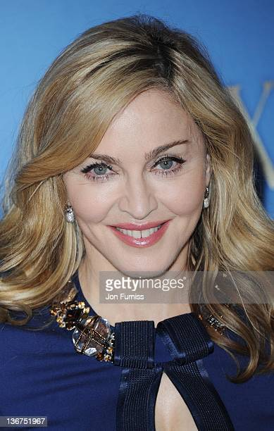 Madonna promotes the film WE during a photocall at The London Studios on January 11 2012 in London England