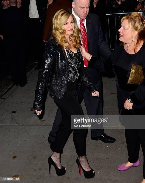 Madonna sighting on December 4 2011 in New York City