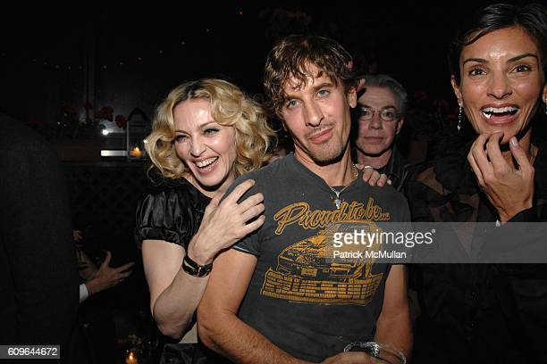 Madonna Steven Klein and Ingrid Casares attend THE CINEMA SOCIETY and PIAGET host the after party for REVOLVER at Gramercy Park Hotel Rooftop on...
