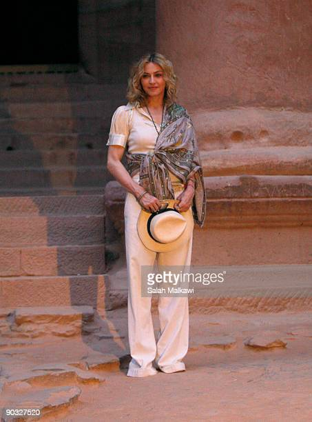 Madonna tours the historic Nabataean rose city of Petra September 3 2009 in southern Jordan Madonna wrapped up her Sticky and Sweet tour with two...