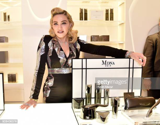 Madonna visits MDNA SKIN Counter at Barneys New York Beverly Hills on March 6 2018 in Beverly Hills California