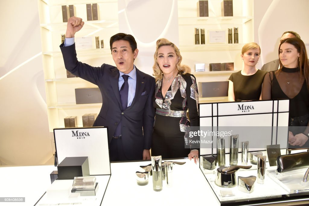 Madonna visits MDNA SKIN Counter at Barneys New York, Beverly Hills on March 6, 2018 in Beverly Hills, California.