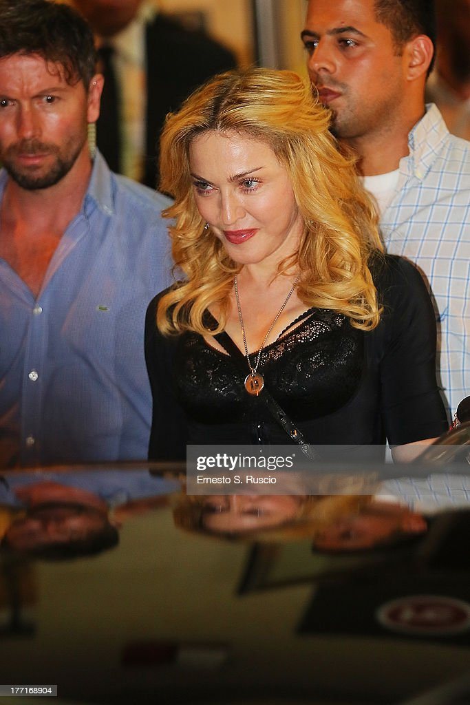 Madonna Visits The Hard Candy Fitness Rome : News Photo