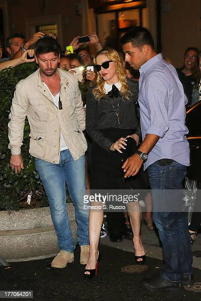 Madonna visits the 'The Hard Candy Fitness' at Colosseo on August 20 2013 in Rome Italy