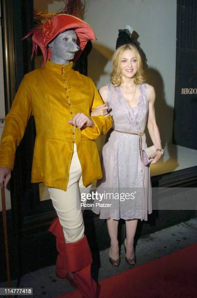 """Madonna with an Italian Greyhound during """"Lotsa de Casha"""" by Madonna Book Launch Party at Bergdorf-Goodman in New York - June 7, 2005 - Outside..."""