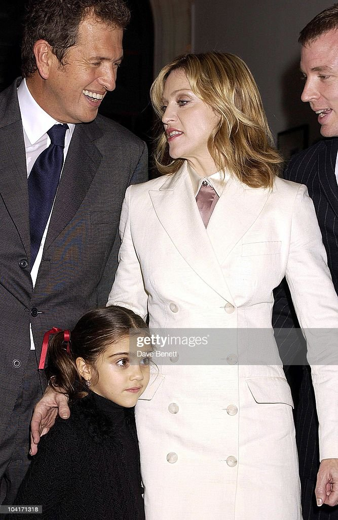 Madonna With Daughter Lourdes And Mario Testino, Fashion Photographer Mario Testino Attracted All The Most Glamorous Women In London To His Exhibition At The National Portrait Gallery.