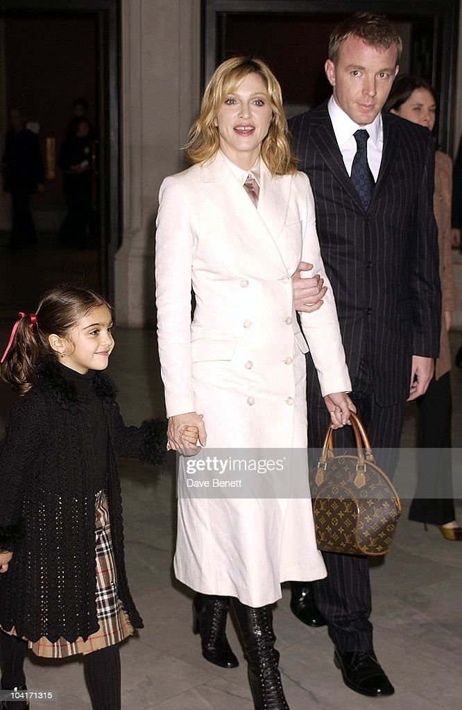 Madonna With Daughter Lourdes & Husband Guy Ritchie, Fashion Photographer Mario Testino Attracted All The Most Glamorous Women In London To His Exhibition At The National Portrait Gallery.