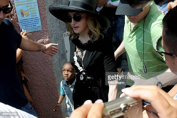 Madonna with son David Banda are sighted on August 17 2009 in Portofino Italy