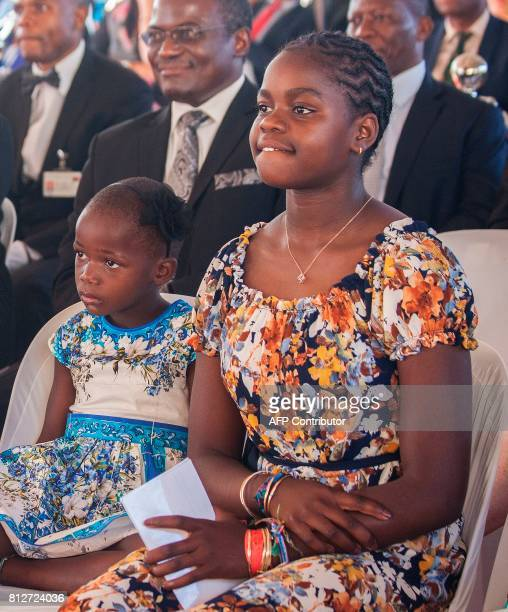 Madonna's adopted Malawian daughter Mercy James one of her newly adopted children attend the opening ceremony of the Mercy James Children's Hospital...