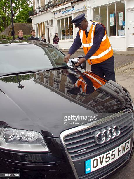 Madonna's car receives a parking ticket while the singer attended her gym May 10 in London