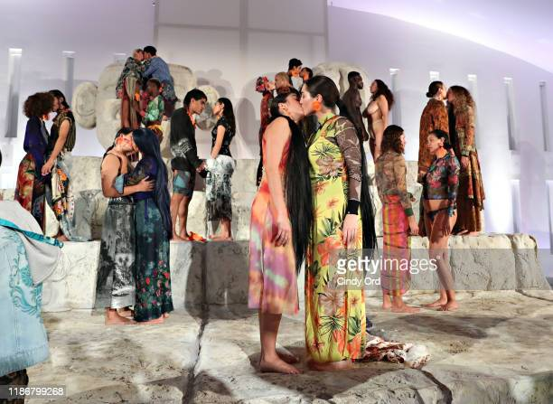 Madonna's daughter Lourdes Leon takes part in the Desigual X Carlota Guerrero Show during Art Basel Miami 2019 at The Temple House on December 6 2019...