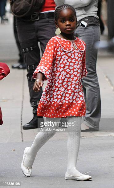 Madonna's daughter Mercy walks in the city on October 1 2011 in New York City