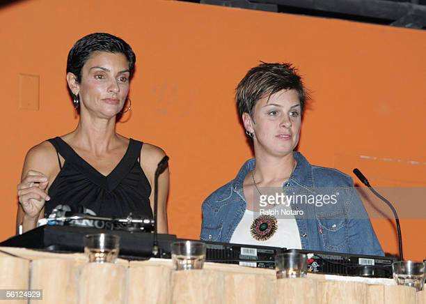 Madonna's GalPal Ingrid Casares and DJ Tracy Young introduce Madonna's new CD Confessions On A dance Floor during the listening party at Pangaea...
