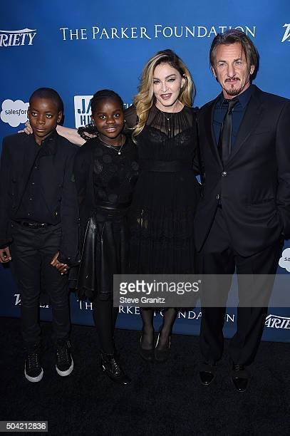 Madonna's kids David Banda Mercy James musician Madonna and host Sean Penn attend the 5th Annual Sean Penn Friends HELP HAITI HOME Gala Benefiting...