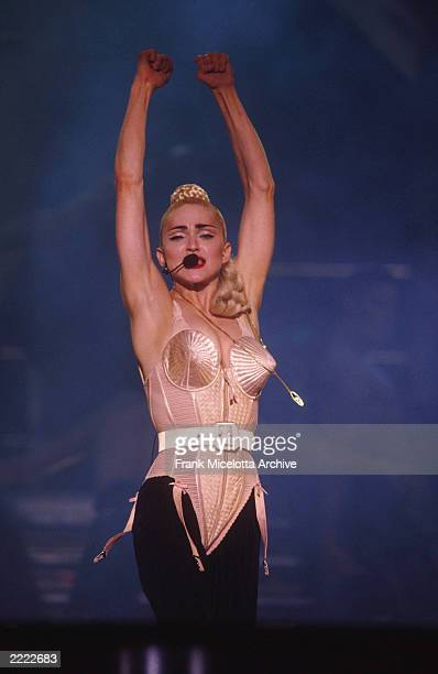 Madonnna performing on the Blond Ambition Tour in Tokyo Japan 4/4/90 Photo by Frank Micelotta/Getty Images