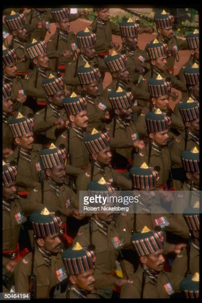 Madras regiment marching in Republic Day Parade