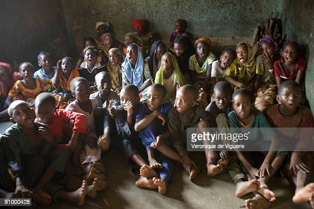 A madrasa in Korogho Ivory Coast where hundreds of children are coming from poorer neighbouring countries like Mali Guinea and Burkina Faso The...