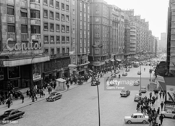 Madrid 1965 The 'Gran Via·' Spain