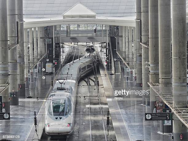 madrid, atocha train station - alta velocidad espanola stock pictures, royalty-free photos & images