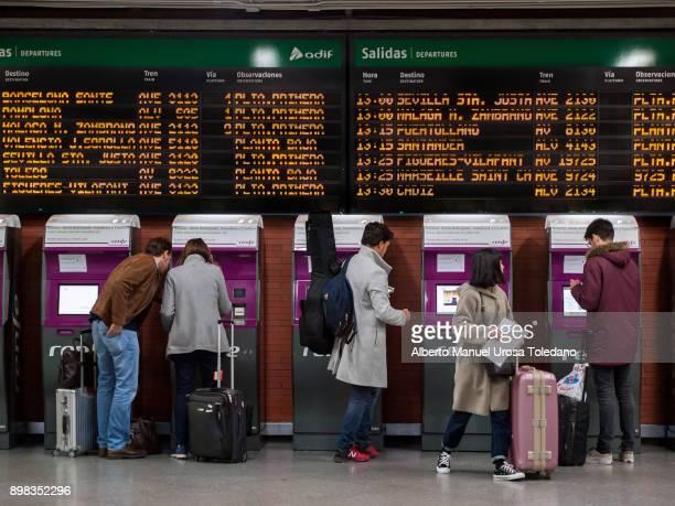 Madrid, Atocha train station, Ticket Machine NEW