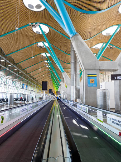 Madrid Barajas T4 International airport with stunning and inspirational architecture.