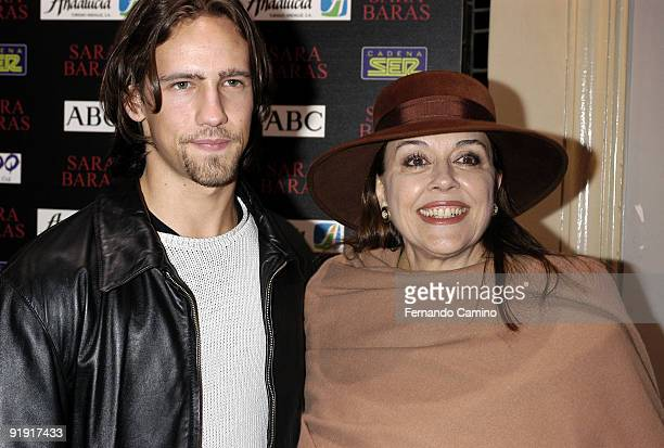 140203 Madrid Calderón theater Preestreno in the Calderón Theater of Madrid of the new Flamenco spectacle of of the dancer Sara Twigs Gonzalo son of...