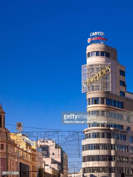 Madrid, Carrion Building at Gran Via Ave