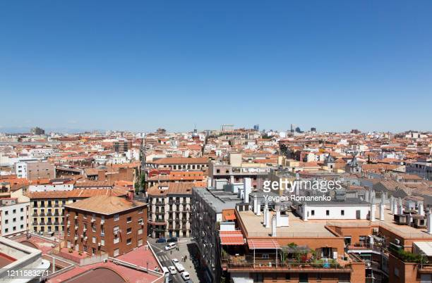 madrid city roofs view - madrid stock pictures, royalty-free photos & images