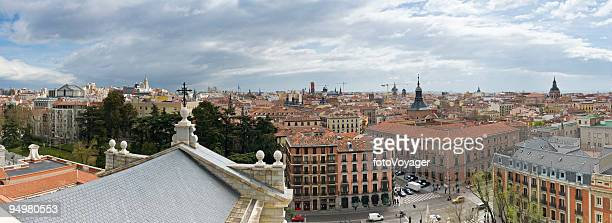 madrid cityscape panorama - royal cathedral stock pictures, royalty-free photos & images