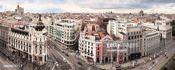 madrid classic cityscape - madrid stock pictures, royalty-free photos & images