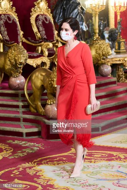 Madrid Community President Isabel Diaz Ayuso attends a State Dinner honouring Korean President at the Royal Palace on June 15, 2021 in Madrid, Spain.