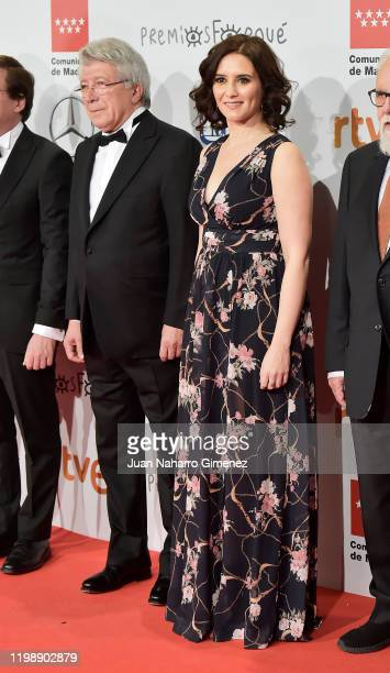 Madrid Comunity President Isabel Diaz Ayuso attends the red carpet during 'Jose Maria Forque Awards' 2020 at Ifema on January 11, 2020 in Madrid,...
