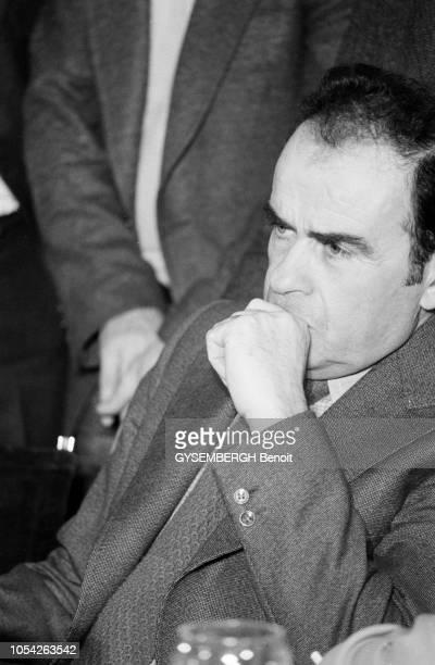 Madrid Espagne mars 1977 Les dirigeants du Parti communiste espagnol du Parti communiste italien et du Parti communiste français se sont retrouvés...