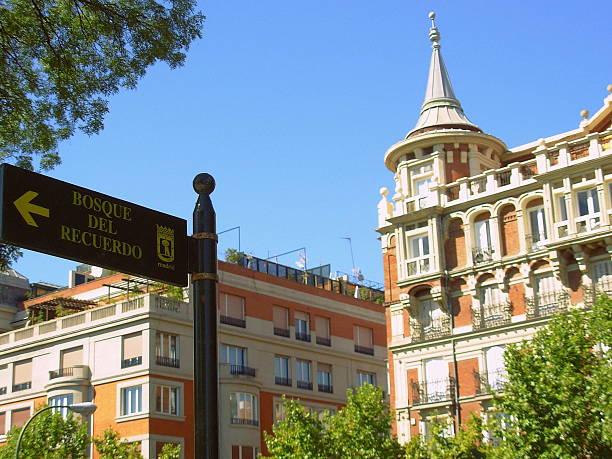 Madrid facades near Parque del Recuerdo