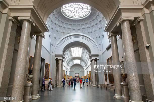 madrid, gallery in el prado museum - el prado museum stock pictures, royalty-free photos & images