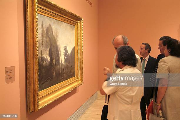 Madrid June 6 2005 Museum ThyssenBornemisza A temporary exhibition has been dedicated to the french painter JeanBaptiste Camille Corot great...