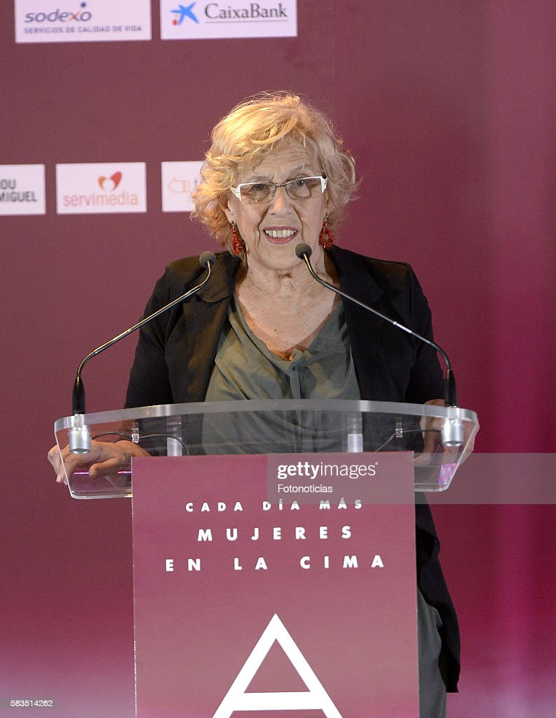 Madrid Mayor Manuela Carmena attends the XXV FEDEPE awards ceremony at Retiro Park on July 26, 2016 in Madrid, Spain.