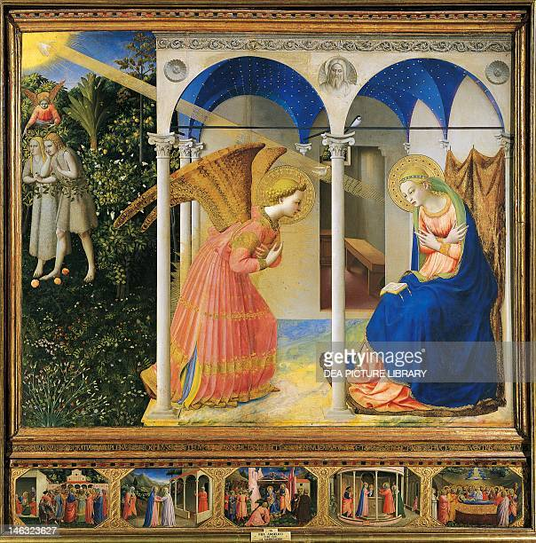 Madrid Museo Del Prado Altarpiece of the Annunciation or the Prado Altarpiece 14301432 by Giovanni da Fiesole known as Fra Angelico tempera on wood...