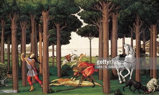 Madrid Museo Del Prado Nastagio degli Onesti Scene II from The Decameron by Sandro Botticelli