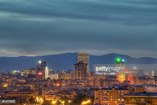 Madrid night view