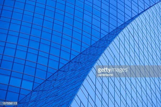 Madrid Office Building Exterior, Tungsten Blue Light Effect