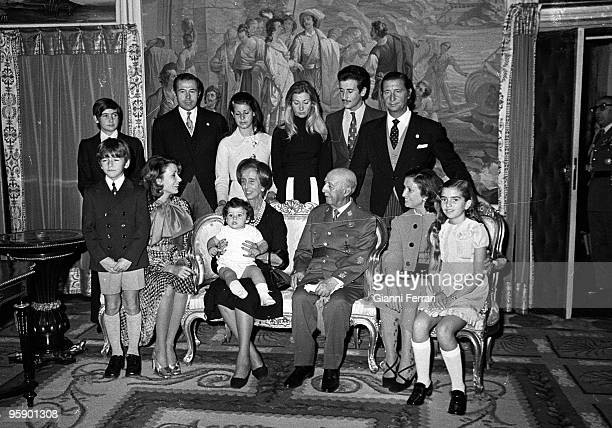 Madrid Palace of Pardo Spain Francisco Franco and his family in the Palace of Pardo